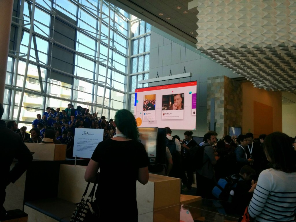Inside the Moscone - last Day