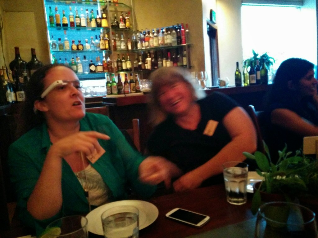 Women's Techmaker's Dinner (Linda Lawton on the left - awesome GDE!)